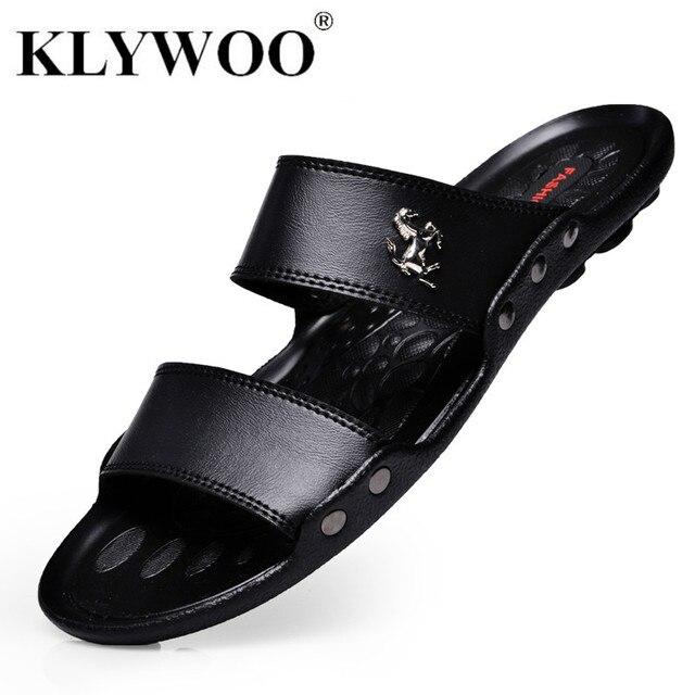 caef5e1f045 Hot New Summer Fashion Shoes Men Flats Sandals Slides Beach Flip Flops  Brand Men s Sandals Casual
