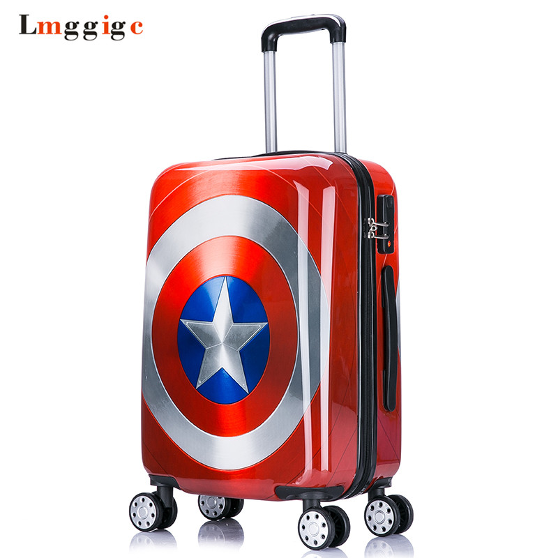 "Kids Rolling Luggage Travel Bag,Children's wheel Suitcase,Child Trolley with Lock,16""20""24"" inch Carry On Box ,Gift for Boy Girl"