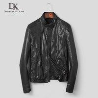 Men Genuine Leather Jacket Real Sheepskin Jackets Casual Short Black Pockets 2019 Autumn New Jacket for Man Washed Leather s906