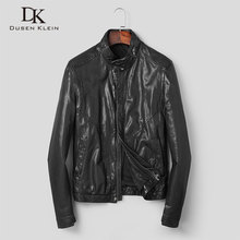 Men Genuine Leather Jacket Real Sheepskin Jackets Casual Short Black Pockets 2019 Autumn New for Man Washed s906
