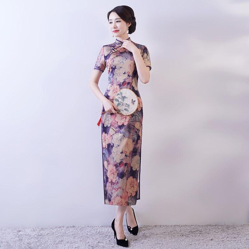 Fr Samt Chinesische Vintage 2019 Cheongsam Frauen K1JcFul5T3
