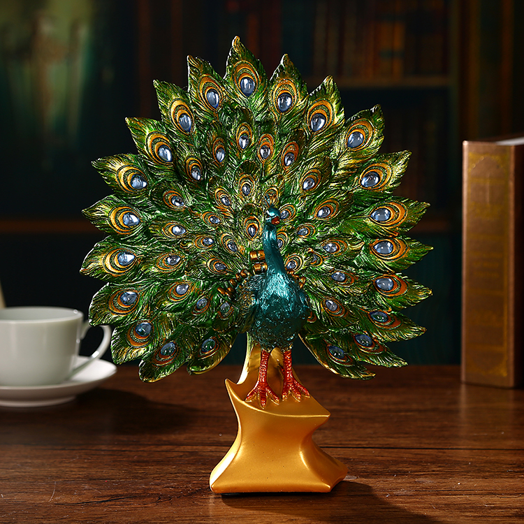 Online buy wholesale artificial peacock birds from china for Online purchase home decor items