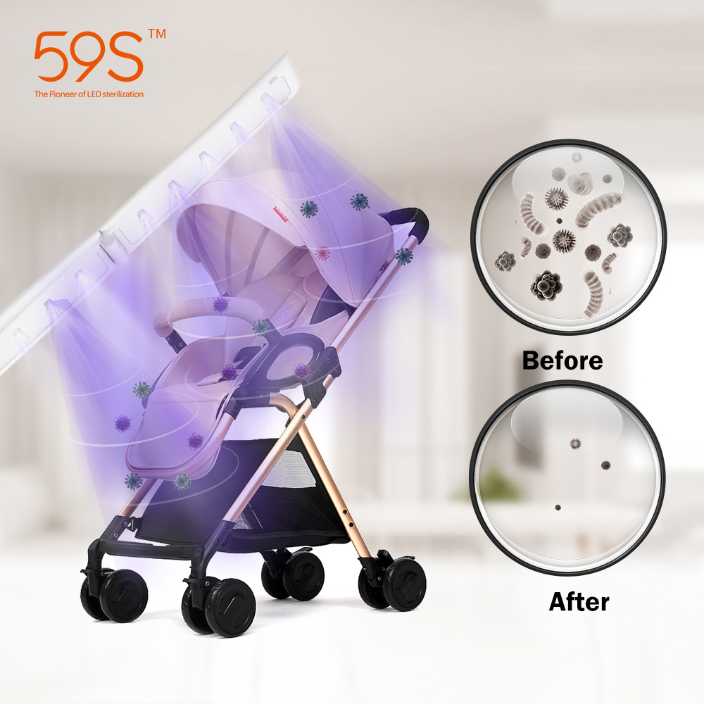 59S UV LED Sterilizer Wand For Baby Cart Baby Accessories Sterilizing UV Light Kill Germs by Physics with 20pcs UV LEDS