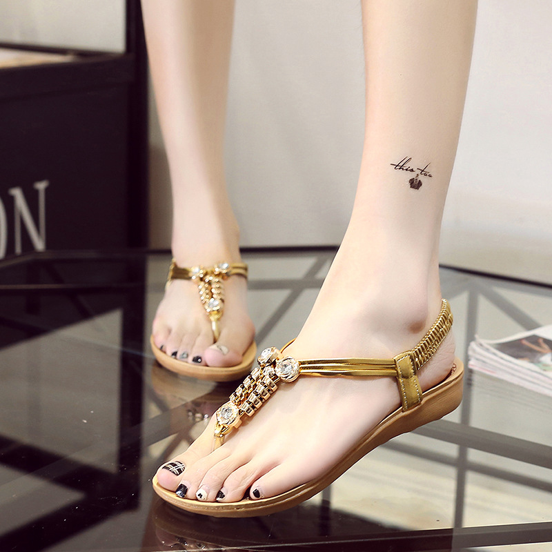 Women Sandals Soft Elastic Band Summer Women Shoes Non-slip Flip Flops Women Sandals Shoes Beach Flat Sandalias Chaussure Femme suihyung design new women and men summer flat shoes hit color breathable hollow beach slippers flips non slip unisex sandals