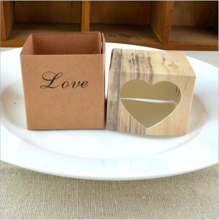 120pcslot love heart rustic wedding candy box for cake box and wedding favor boxes and romantic wedding gift bags easy fold in gift bags wrapping