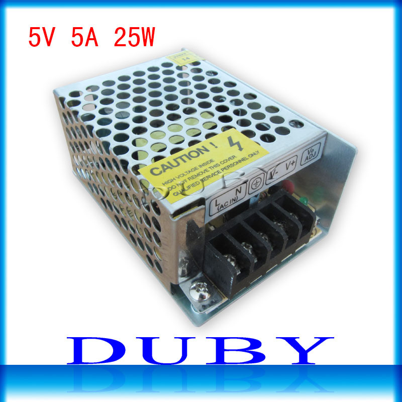 5V 5A 25W Switching power supply Driver For LED Light Strip Display AC100-240V  Factory Supplier  Free Shipping dc power supply 36v 9 7a 350w led driver transformer 110v 240v ac to dc36v power adapter for strip lamp cnc cctv