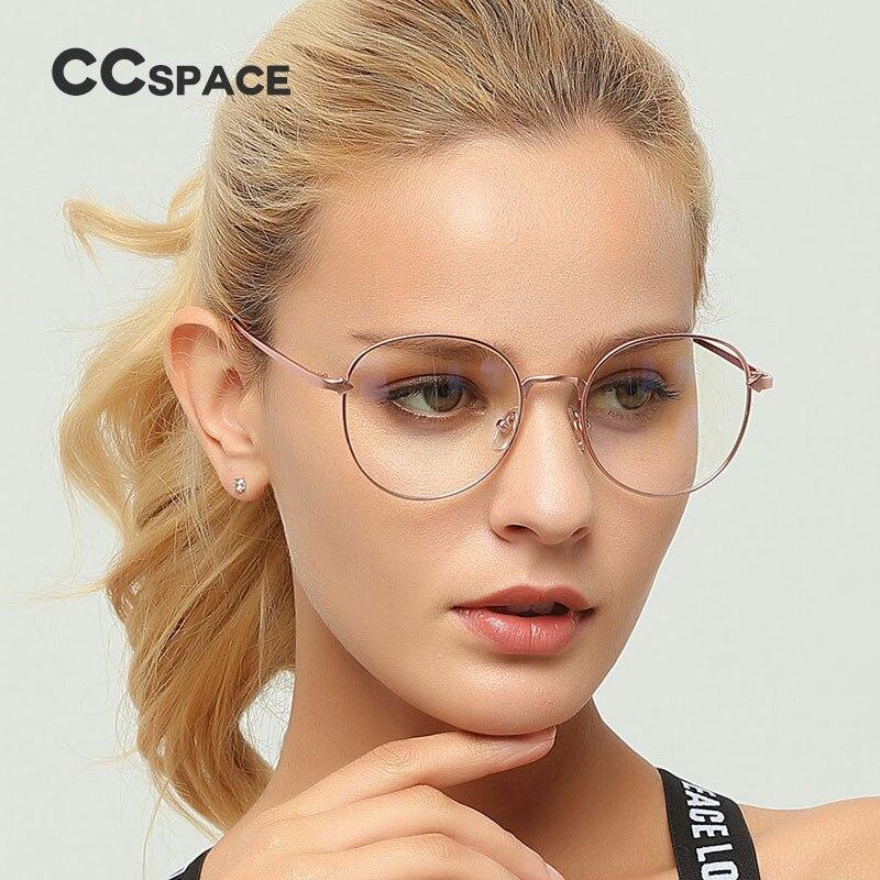 CCSPACE Metall Oval Damen Glasrahmen Für Frauen Pfeil Runde Marke ...
