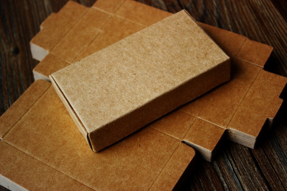 Kraft Paper Box Handmade DIY Soap Business Card Gift Boxes 11x6x2 ...