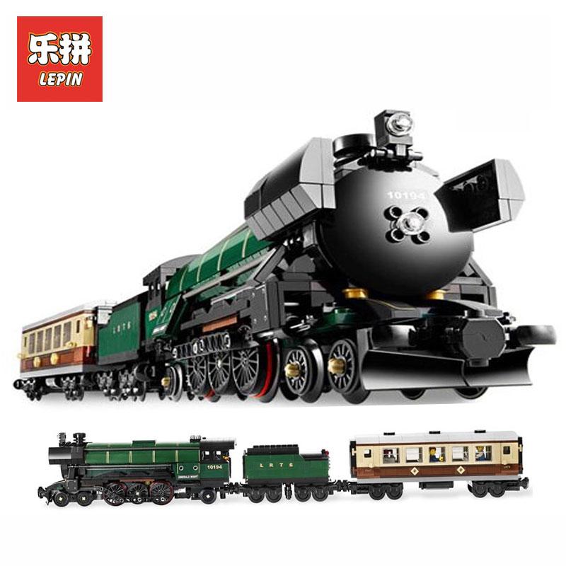 NEW LEPIN 21005 1085Pcs Technic Series Emerald Night Train Model Building Kits Block Bricks Children Gigt Toys LegoINGlys 10194