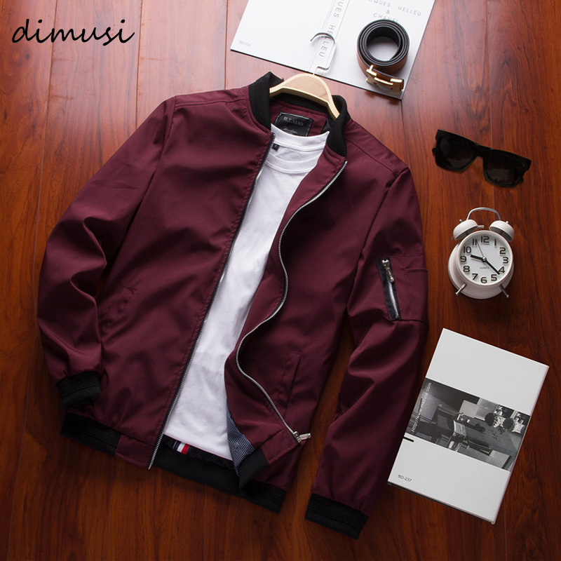 DIMUSI Spring New Men s Bomber Zipper Jacket Male Casual Streetwear Hip Hop Slim Fit Pilot Innrech Market.com