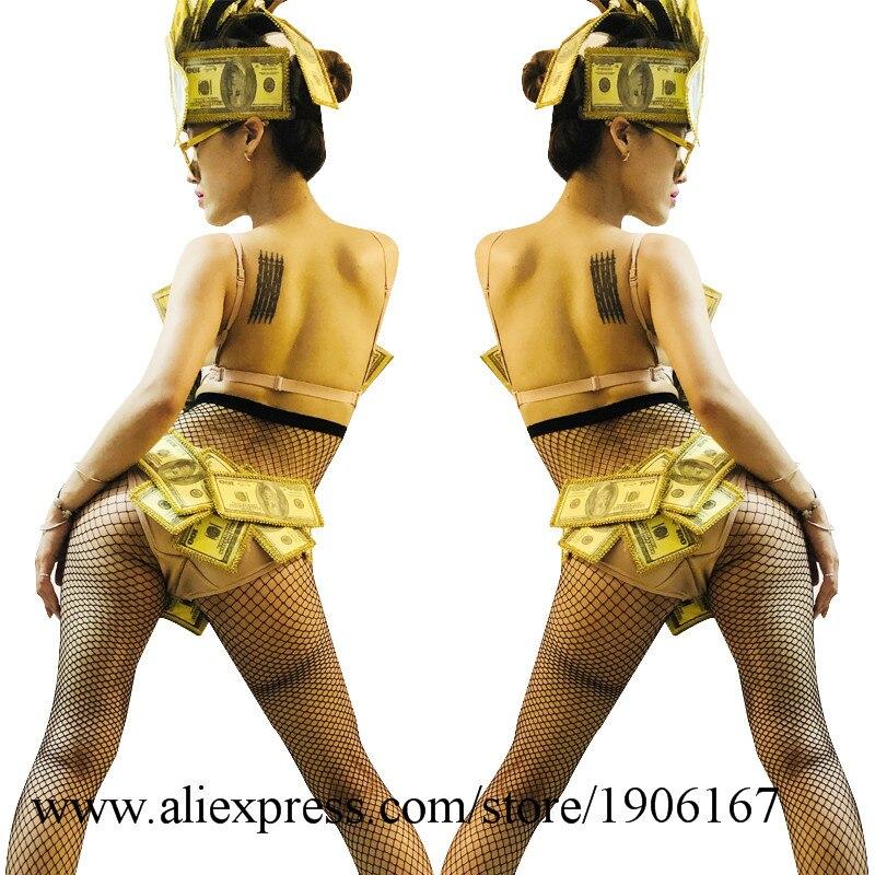 US dollar art design gogo bar ds costume sexy bikini performance clothing8