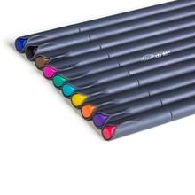 LolliZ 10 Colors Set 0.38MM Fine Liner Gel Pens Watercolor Based Art Markers Colored Marker Pens For Manga Anime Sketch Drawing 0 4 mm fine liner gel pens 60 colors set sketch drawing color pen art markers for drawing manga design art set supplies