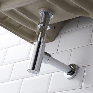Image 2 - Uythner umywalka łazienkowa z kranu butelka pułapka zestaw spustowy odpadów pułapka Pop spustowy dezodoryzacji chrom/czarny/brąz mosiądz syfon ścienne