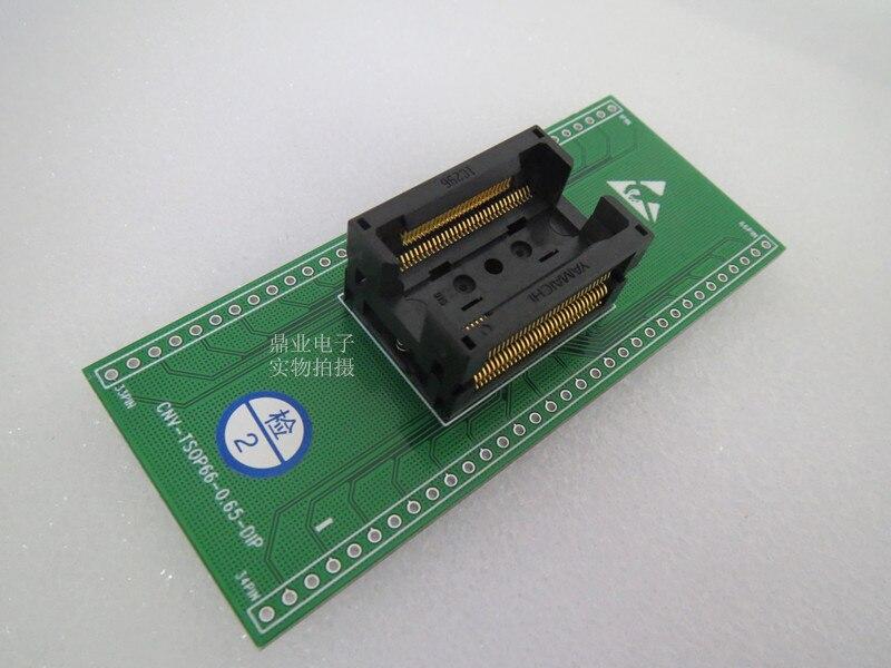 Original YAMAICHI IC Test Sitz IC296-016 TSOP66/DIP Brennen Programmierer DDR 2 generation Buchse Adapter
