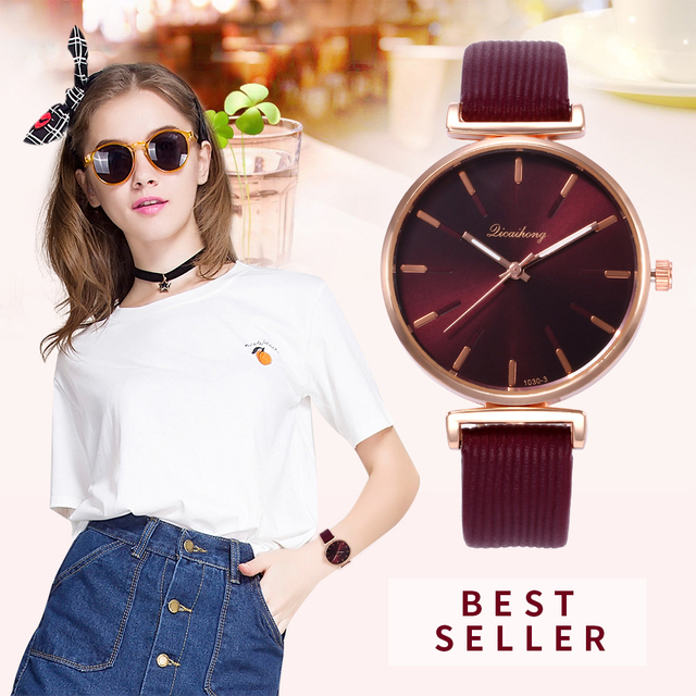 Fashion Luxury Brand Famous Ladies Watches Casual Reloj Mujer Quartz Leather Ban