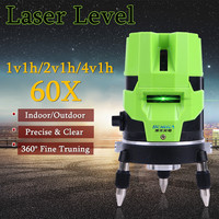 360 Поворотный крест мера набор инструментов лазерный уровень 2/3/5 линии наливные открытый утолщенная металлическое основание вертикально т