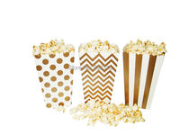 Gold Metallic Candy Box In Stripes Dots Chevron Rugby Gold Favor Bags Gold Party Bags Gold