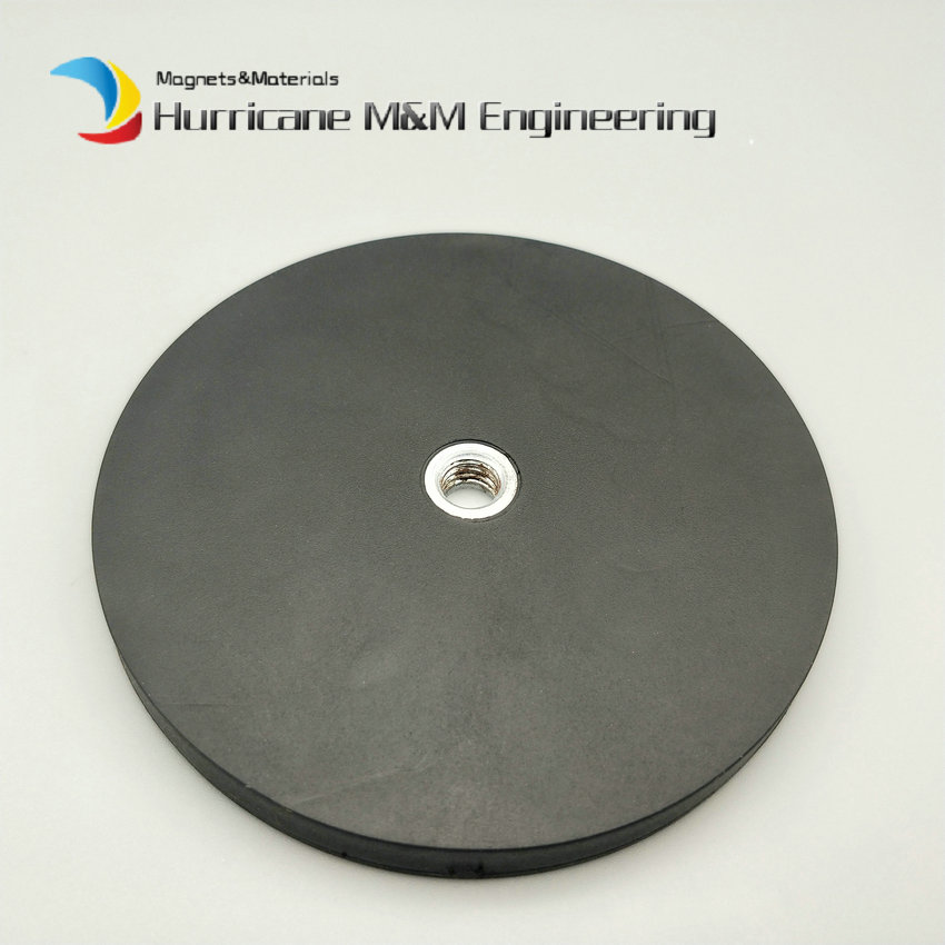 Magnetic Rubber Disc Dia 43 66 88mm LED Light Holding Spotlight Holder Flat Female Thread Strong NdFeB Magnet Surface Protection 2pcs mounting magnetic disc diameter 88 mm led light holding spotlight holder male thread ndfeb magnet strong neodymium magnet