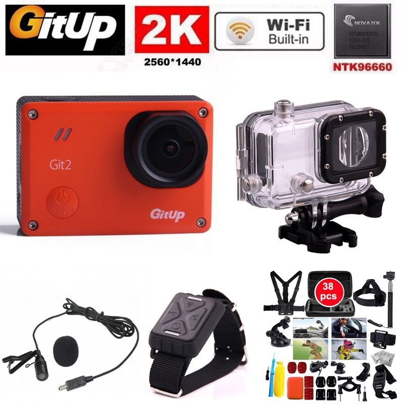 Gitup Git2 Ultra HD 2K Action Camera Video Cam font b Sport b font Go Waterproof