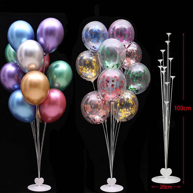 Ballons de fête d'anniversaire support de ballon colonne en plastique ballon bâton décorations de fête d'anniversaire enfants adulte ballon de mariage