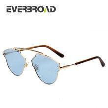 0aa5a7432 الفرنسية الكبيرة ماركة انتظام شكل تصميم oculos femininos دي سول 2017  النظارات الشمسية للجنسين EV2757