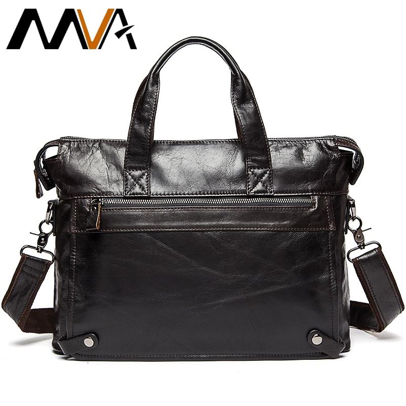 Business Men's Briefcase Genuine Leather Bag Mens Briefcases Leather Laptop Bags 14 Inch Computer Bag Men Briefcases Man Maletín