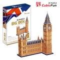 CubicFun 3D головоломки модель бумаги подарок Детям DIY игрушка Биг Бен MC087H издания в твердой обложке мире отличная архитектура с LED L501H