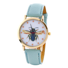 SmileOMG Hot Sale Women Watch Leather Band Analog Quartz Vogue Wrist Watches Christmas Gift ,Aug 19