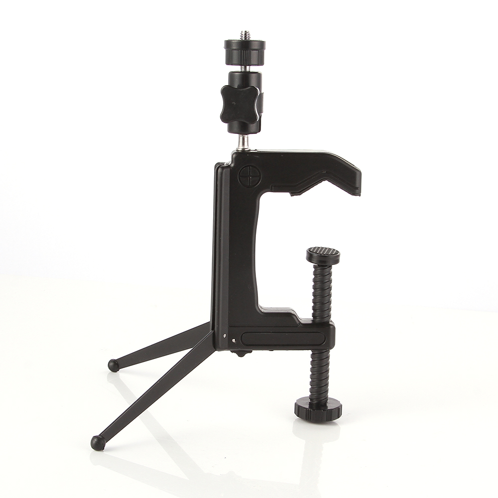Mini Portable Swiveling Ball head C-Clamp Tripod Stand Desktop for Camera DSLR DV