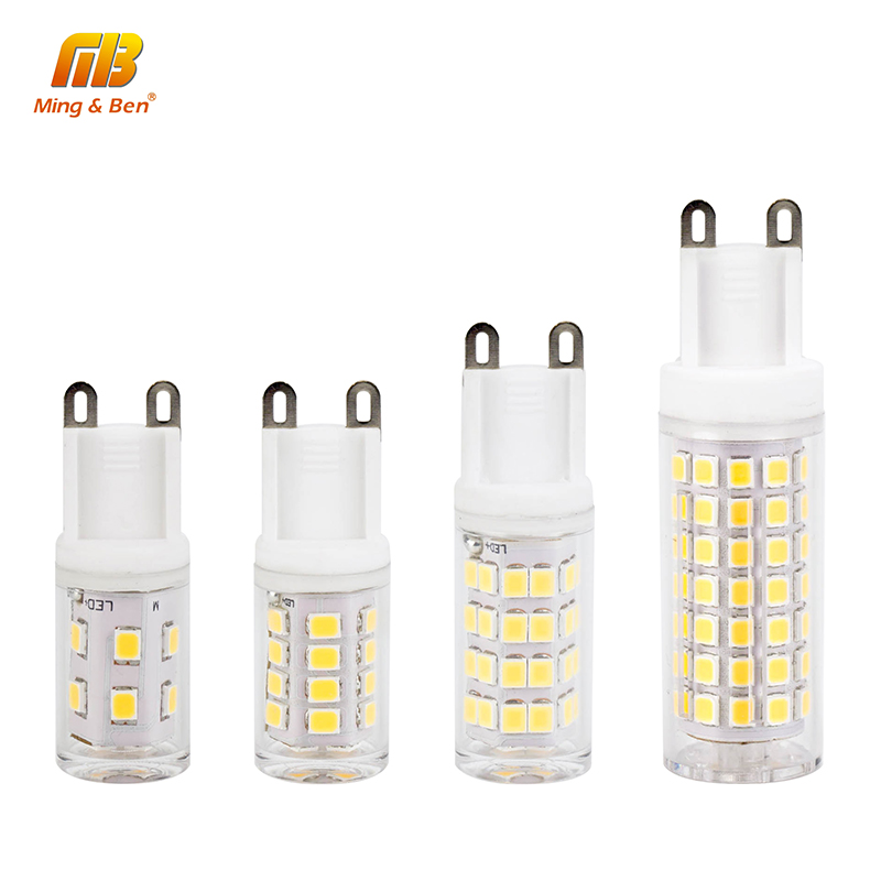 [MingBen] No Flicker G9 LED Bulb Corn Spotlight 2W 4W 6W 8W AC220V LED Light SMD 2835 LED Ceramic Bulb Replace Halogen Lamp r7s led lamp 78mm 118mm 5w 10w led r7s light corn bulb smd2835 led flood light 85 265v replace halogen floodlight