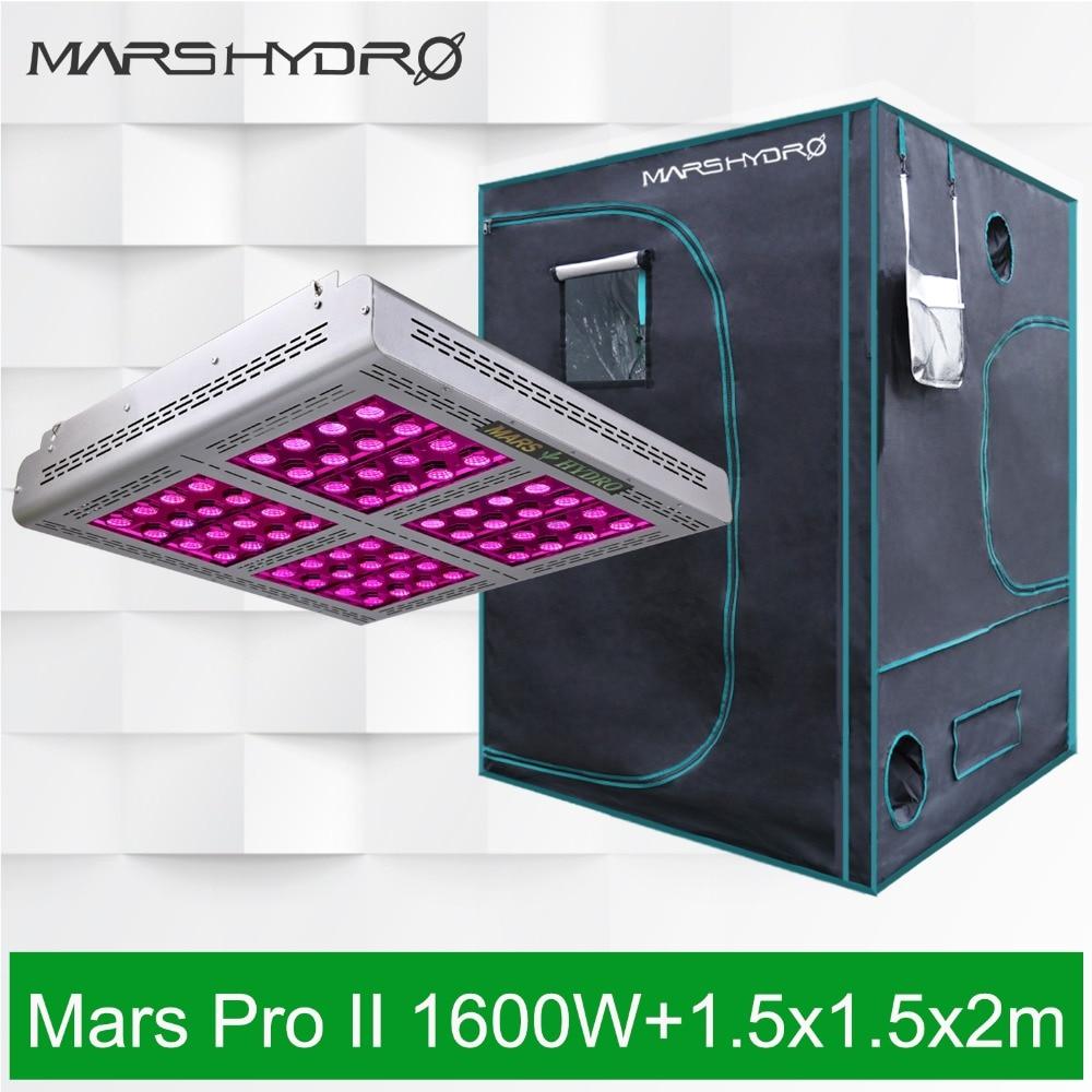 mars pro ii epistar 1600w led full spectrum grow light veg flower hydroponic lamp best for hydro plants 750w Mars Hydro Pro II Epistar 1600W Full Spectrum LED Grow Light+ 59''x59''x80''(150x150x200cm) Grow Tent Grow Hut