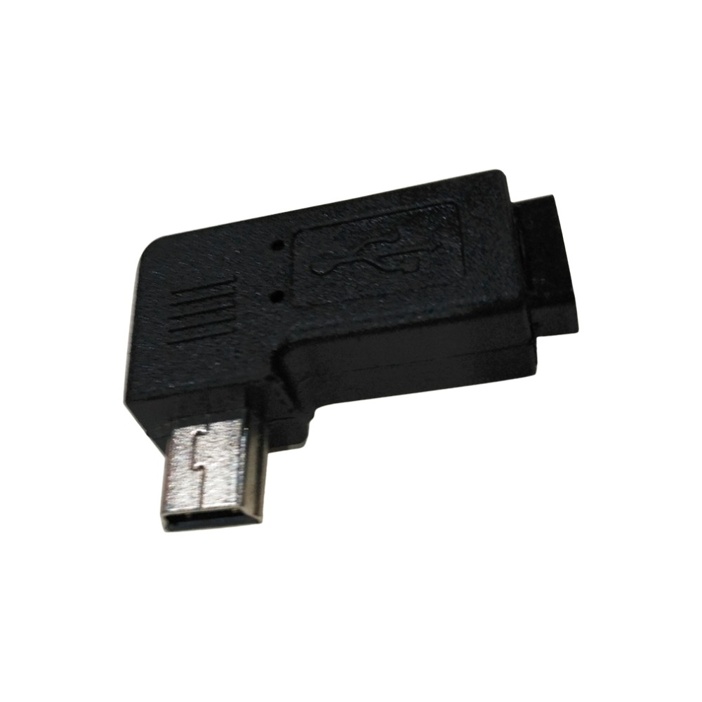 1 pc Micro USB 5 Pin Female to Mini 5 Pin Male 90 Degrees Left / Right Angle Adapter Converter Plug and play