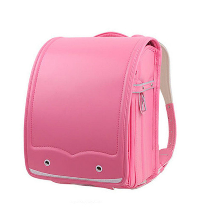 Funatom Randoseru Kid PU Solid High Quality Brand Children's Bag Backpack For The Boy Children School Japan Backpack 2018