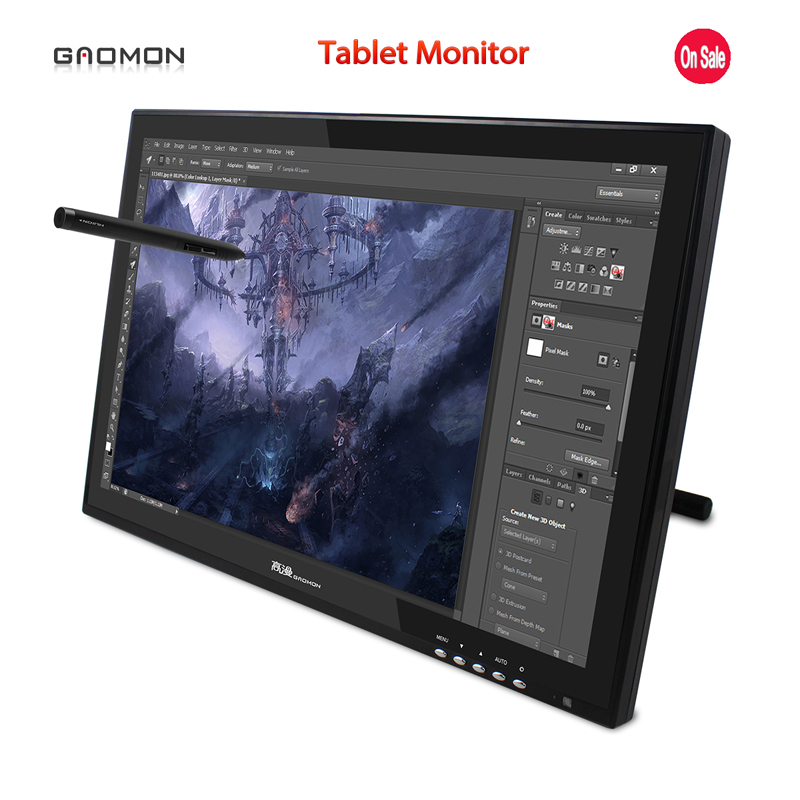 Hot Sale New GAOMON G190 19 Inches Pen Display LCD Monitor Touch Screen Monitors Graphic Drawing Digital Tablet Monitors Black new ew32f10ncw industrial output devices display lcd monitors