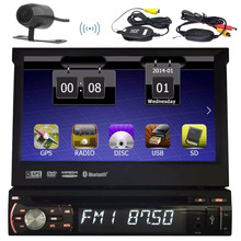 Беспроводной сзади Камера один 1DIN Автомобильная магнитола с 8 ГБ GPS карта головного устройства gps-навигации сенсорный Авторадио Bluetooth AM RDS FM