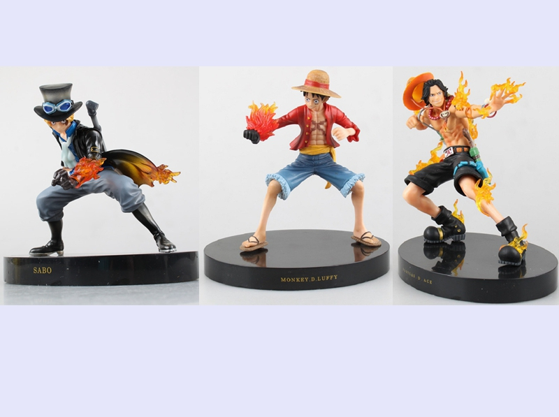New one piece Sabo Monkey D Luffy Ultraman Ace pvc action figure battle ver anime model toy collection gift juguetes hot sale стоимость