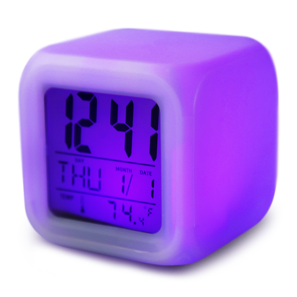 Back To Search Resultshome & Garden Backlight Modern Digital Alarm Clock Desk Gadget Digital Alarm Thermometer Night Glowing Cube Lcd Clock High Quality Materials Alarm Clocks