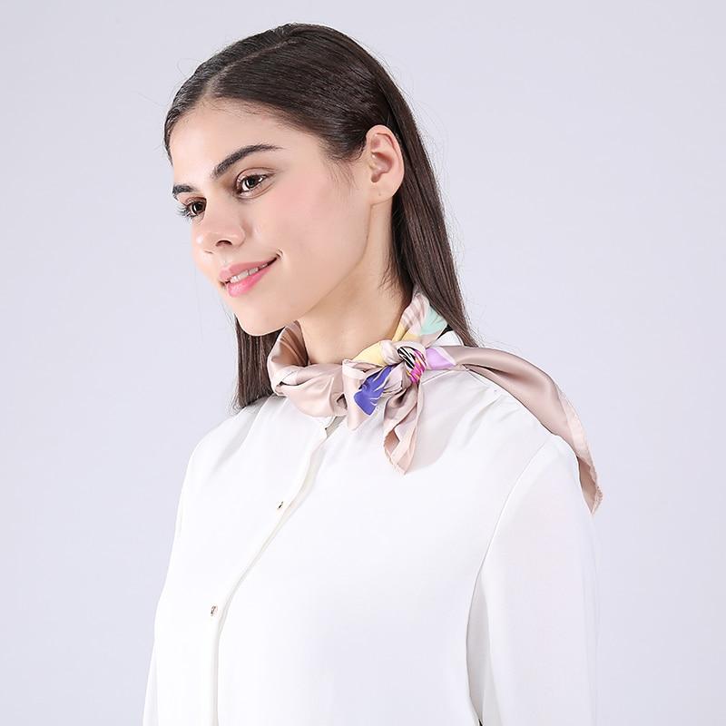 Marte & Joven modni mini kvadratni rajon cvjetni vratni šal za žene - Pribor za odjeću - Foto 3