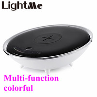 2017 New Popular Wireless Charger Colorful Night Light Atmosphere Lamp Innovative Technology Red Green Blue Yellow