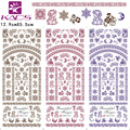 HOT076-078 KADS Top Sell Beautiful Flower And Moon Star Water Transfer Nail Sticker Colorful Design for Nail Art Stickers