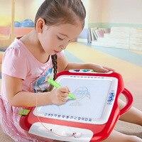 Baby Magnetische Zeichnung Malerei Bord Spielzeug Kinder Doodle Farbe Kunststoff Skizzen Schreibtafel Stift Lernen Weihnachten Spielzeug für Kinder
