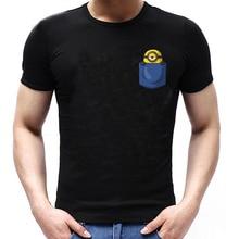 MINION In My Pocket Cute Parody Funny Zinc Cotton T-shirt Men Womens Rock Band Short Sleeve Tops Tees T Shirt Euro Size
