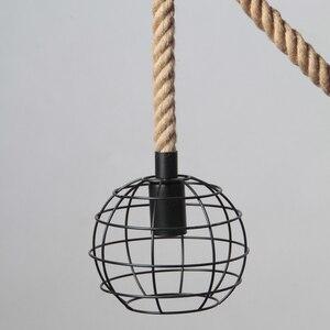 Image 5 - Lámparas colgantes de cuerda para loft lámpara de hierro forjado de estilo americano, lámpara de luz de cuerda, barra de café, comedor, para iluminación del hogar