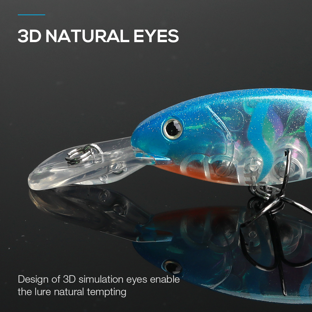 Image 3 - TREHOOK Floating Wobbler Deep Diving Crankbait Fishing Lure 9cm 9g Hard Bait With #6 Hooks isca Artificial Fishing Tackle Lure-in Fishing Lures from Sports & Entertainment