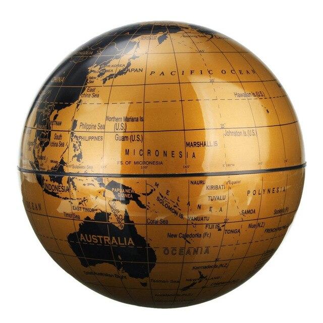 """6 """"Magnétique Tournant Globe Anti-Gravité Flottant Lévitation Terre degrés de Rotation Pour Bureau Bureau Décoration Or Couleur 5"""