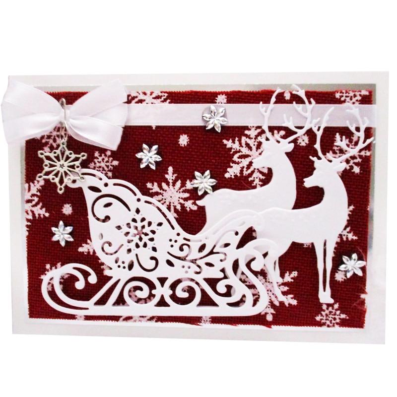 Christmas Dies Deer Snowflake Tree Metal Cutting Dies 2019 Bell Sock Craft Dies Cuts Die For Scrapbooking DIY Card Making
