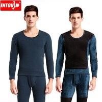 2014New Men S Thermal Underwear Male Plus Velvet Thickening Set Slim Patch Vigogne Winter Underwear
