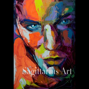 Handmade Modern Abstract Wall Decor Fine Art Francoise Nielly untitled 2 Oil Painting Hand painted Artwork Canvas Painting art