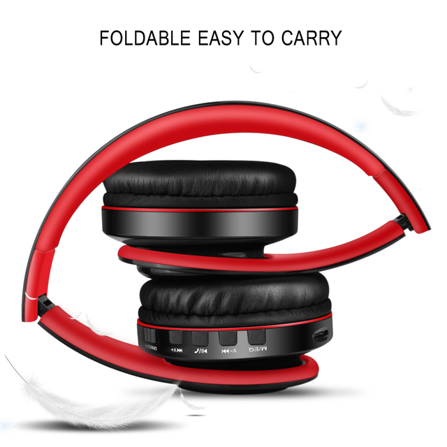 NFUNGYK Bluetooth earphone headphone bass sport headphone support TF AUX With Mic For PC mobile phone best headphone wireless