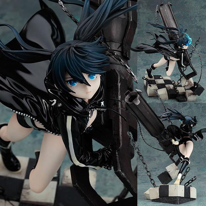 ФОТО Hot-selling 1pcs 20CM pvc Japanese anime figure Hatsune Miku Black Rock Shooter action figure collectible model toys brinquedos